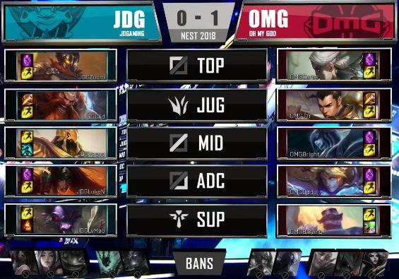 【战报】后期阵容优势明显 JDG强势战胜OMG扳回一城
